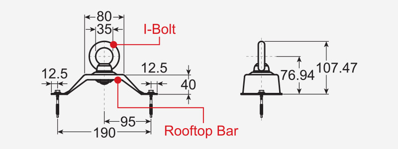 Safety Rooftop for KS Bolt Profile - Drawing